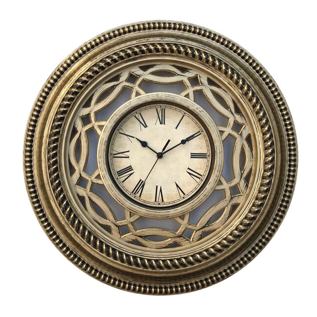 Gold Swirl Wall Clock 20""