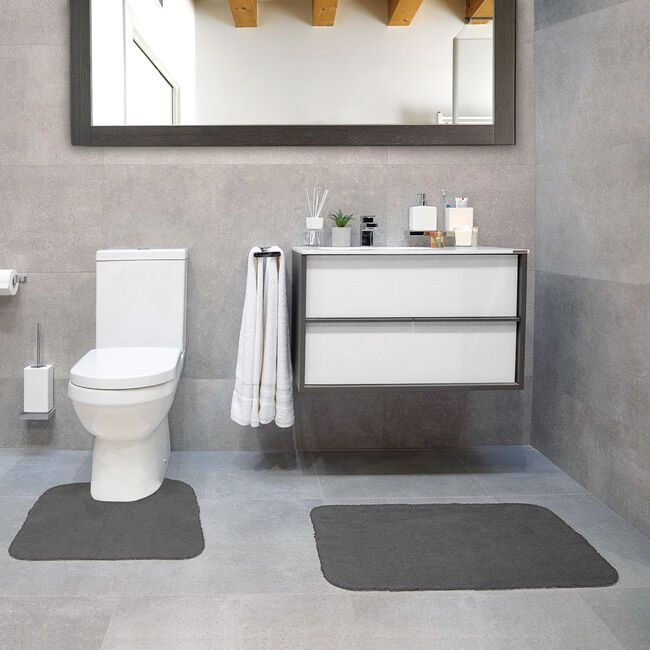 Cotton Plain Dye Steel Bathroom Set