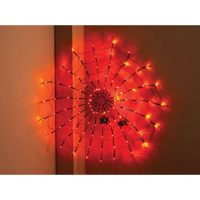 Halloween Amber Spider Web Lights