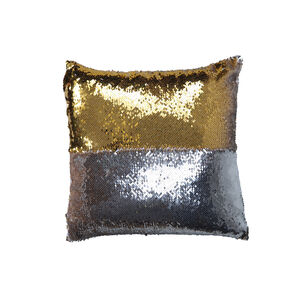 Sequin Cushion Cover 2 Pack 45x45cm - Silver