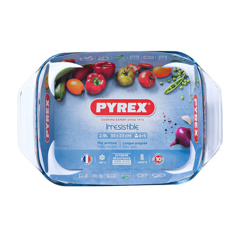 Pyrex Optimum Oblong Roaster 35x23cm