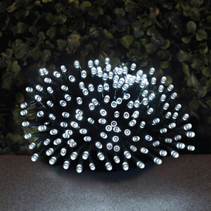 200 LED Solar String Lights White