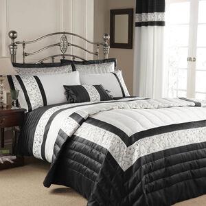 Scroll Black Bedspread 240cm x 260cm