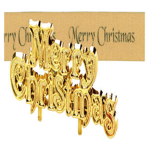 Merry Christmas Gold Motto Frill Kit