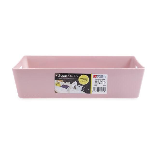 Studio Rectangular Basket 2L - Pink