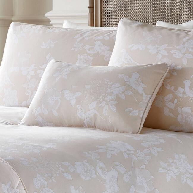 Bird Blossom Natural Cushion 30cm x 50cm