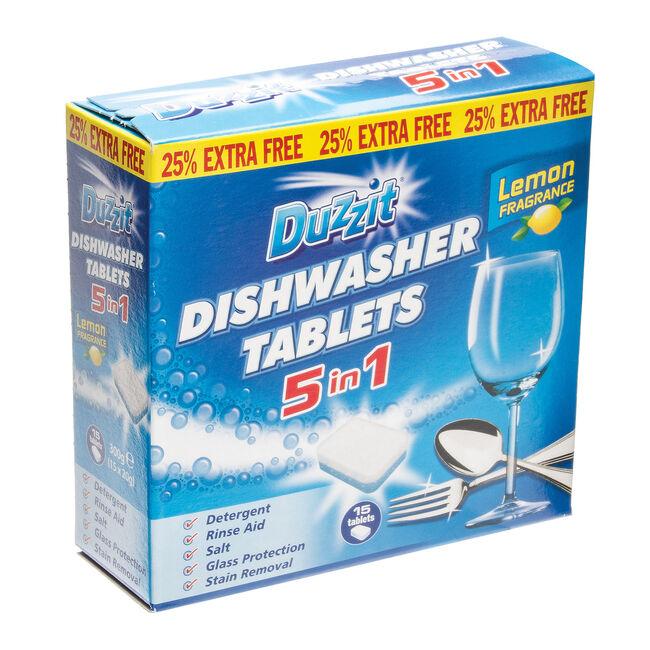 Duzzit 5 in 1 Dishwasher Tablets 15pk