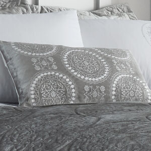 Mandala Silver Cushion 30x50cm