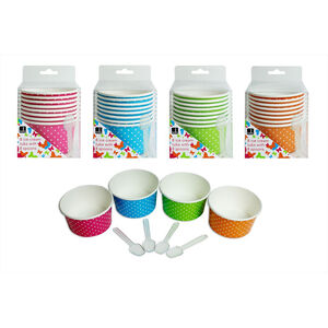 Bello Ice Cream Tubs With Spoon 8 Pack