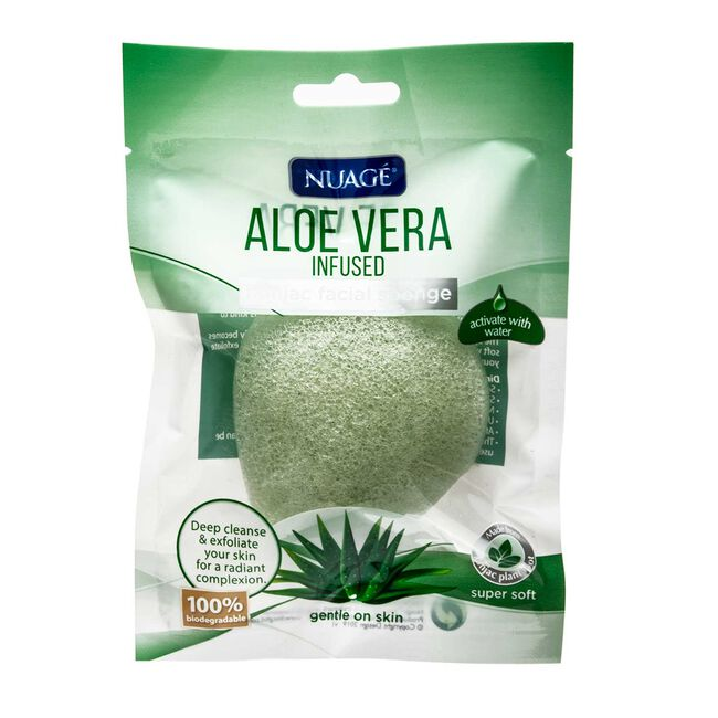 Nuage Aloe Vera Infused Konjac Facial Sponge