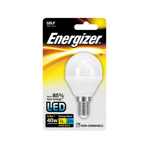 Energizer E14 LED Golf Bulb Opal 59W (EQ40W)
