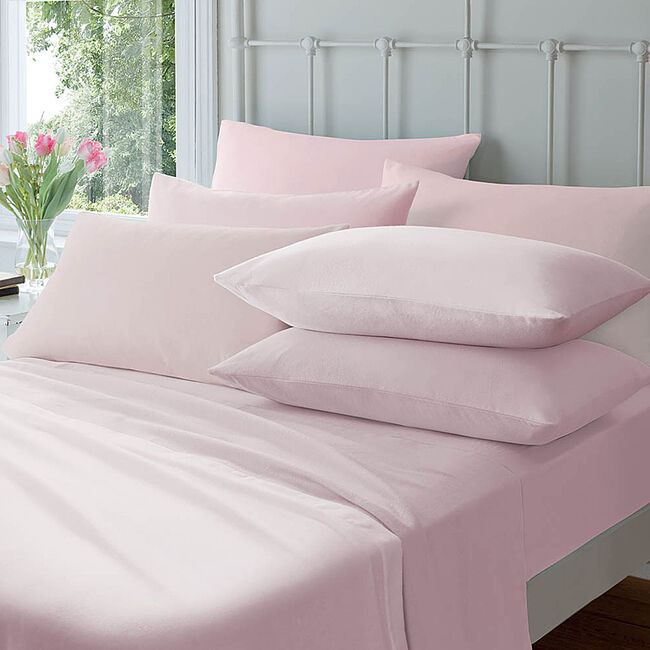 Flannelette Pink Housewife Pillowcases
