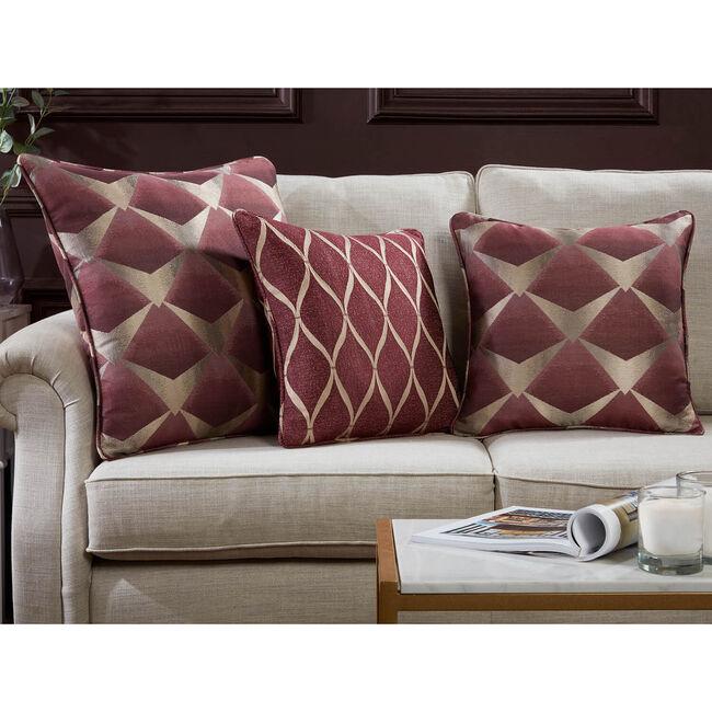 Deco Fan Cushion 45 x 45cm - Wine