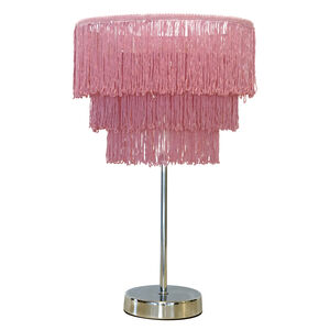 Pink Tassle Table Lamp