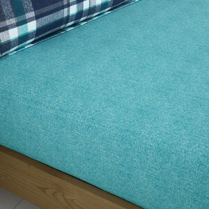 BRUSHED COTTON THORNTON CHECK Single Fitted Sheet