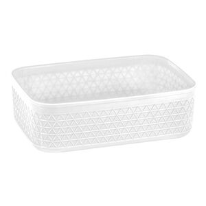 Waffle 2.5L Storage Container w/o Lid White