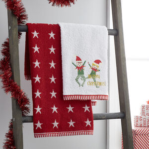 Christmas Elves Guest Towel - 2 Pack