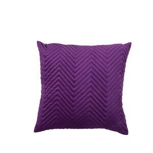 Triangle Stitch Cushion 45x45cm - Purple