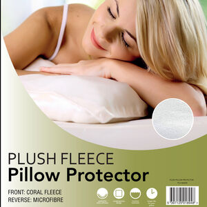 Plush Fleece Pillow Protector