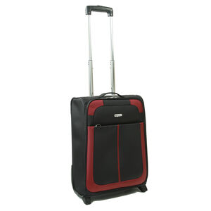 Cabin Size Black and Red Lightweight Suitcase