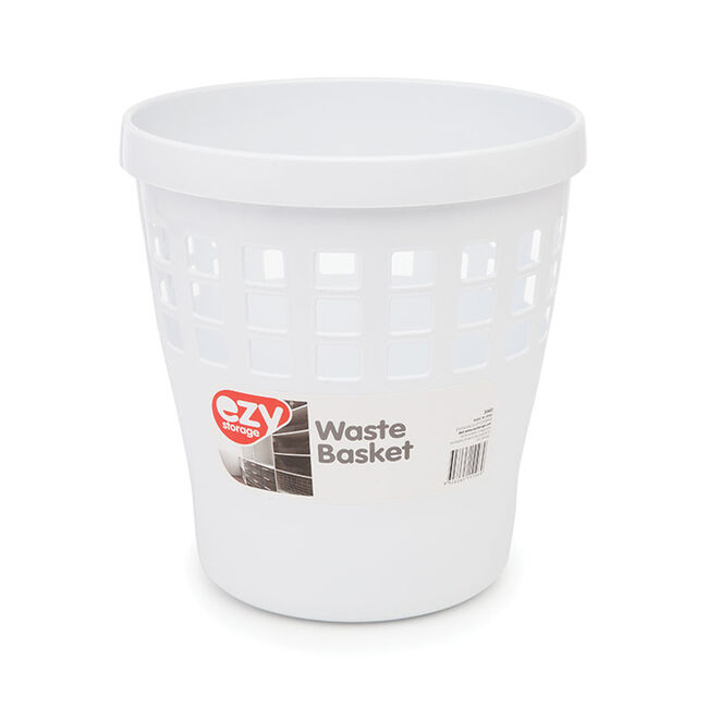 Ezy Storage Waste Paper Bin White