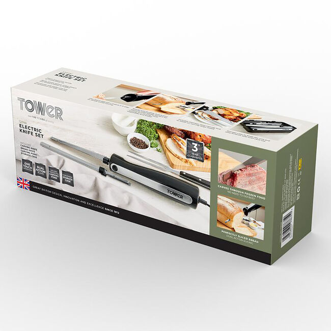 Tower Electric Knife with Fork