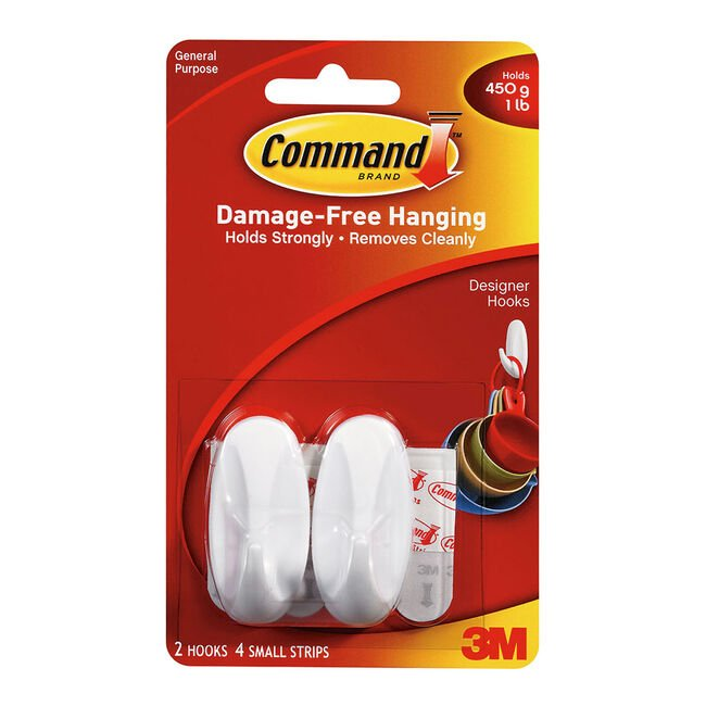 Command Strips Small Hooks 2 Pack