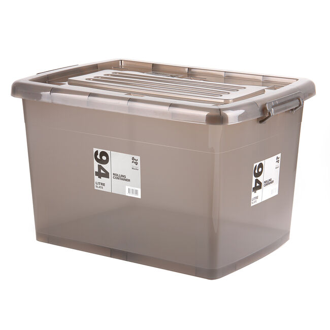 Rolling Storage Container 94L - Slate