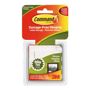 Command 12Pk Medium & Small Hanging Strips