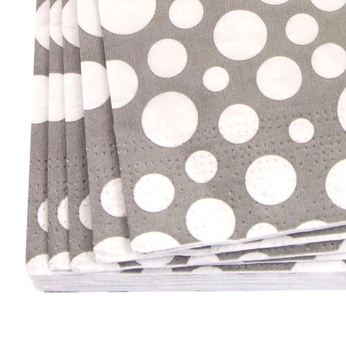 Bubbles Napkins 20 Pack - Grey