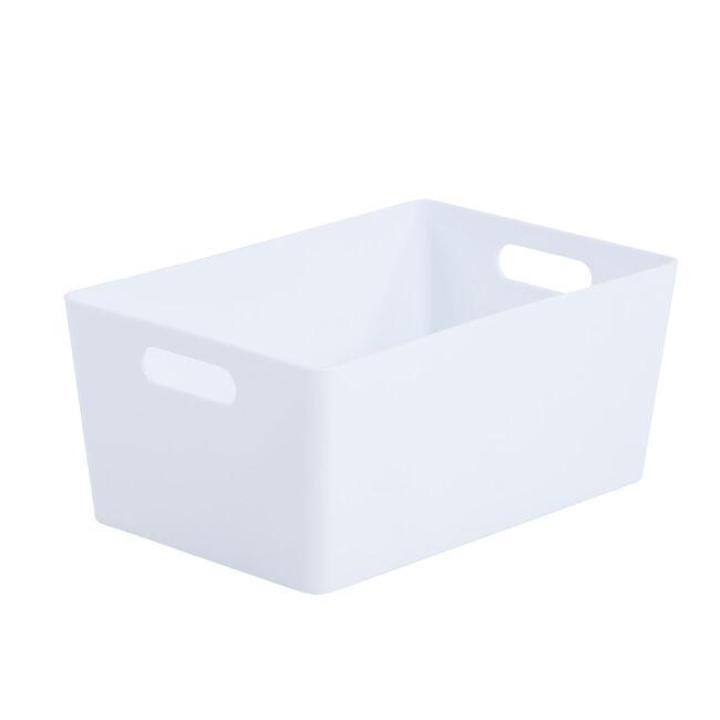 Studio 4.02 Rectangular Basket Ice White