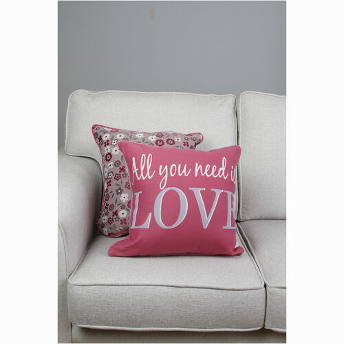 All You Need Is Love Cushion Cover 2 Pack 45x45cm