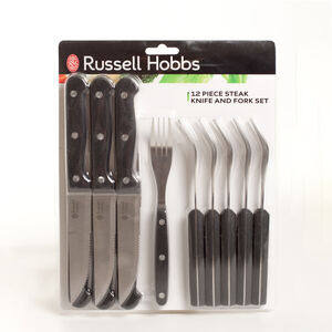 Russell Hobbs 12 Piece Steak Knife And Fork Set