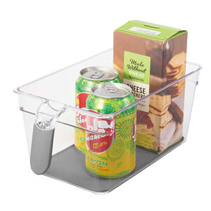 Clear Handled Storage Basket Deep