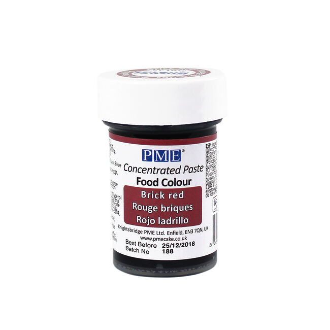PME Brick Red Colour Food paste 25g