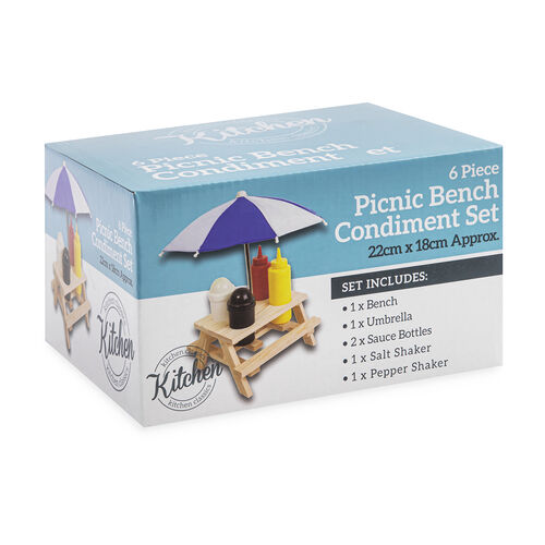 Kitchen Classic Picnic Bench Condiment Set