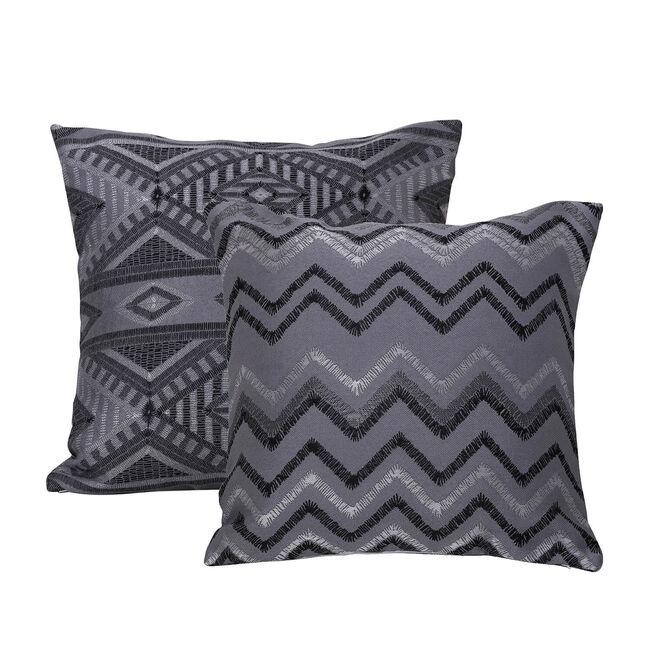 Tribal Cushion 45 x 45cm - Charcoal