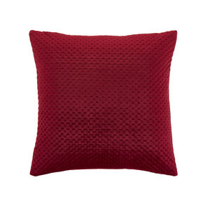 Velour Stitch Cushion 45x45cm - Berry