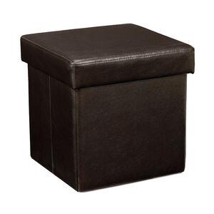 Deluxe Dark Brown Folding Ottoman