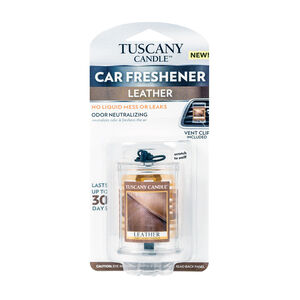 Tuscany Car Air Freshener - Leather