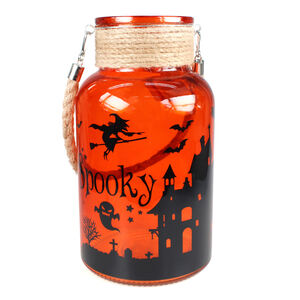 Halloween Glass Lantern