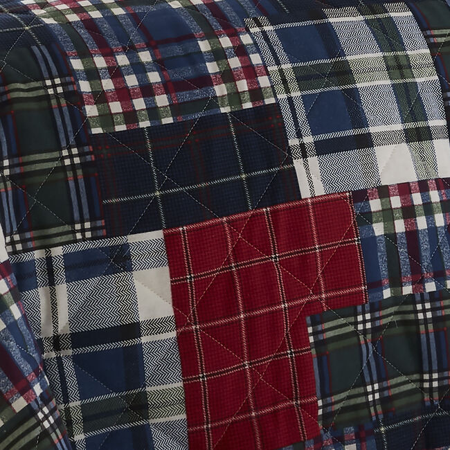 Brushed Cotton Patchwork Check Bedspread 200x220cm