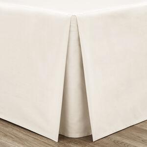 SINGLE PLATFORM VALANCE Luxury Percale Cream