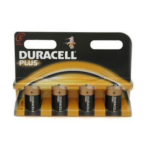 Duracell Plus C Batteries 4 Pack