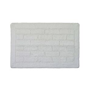 Cotton Brick White Bath Mat 50cm x 80cm