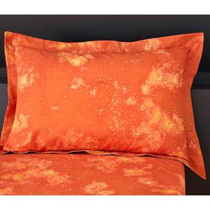 Space Dinosaurs Oxford Pillowcase Pair - Orange