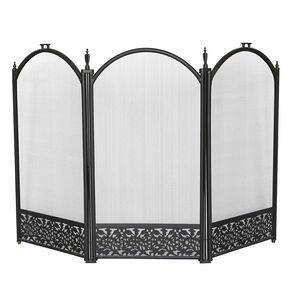 Silverflame 3 Panel Folding Decorative Fireguard