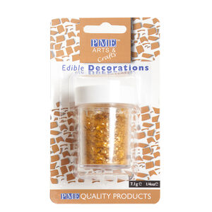 PME Edible Gold Glitter Flakes 7.1g
