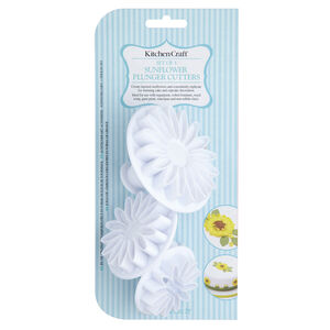 3Pc Sunflower Plunger Cutters