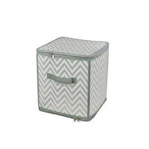 Clever Chevron Clothes Cube Storage 30x30x30cm